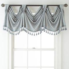 Valance by Royal Velvet® Home Curtains, Window Drapes, Modern Curtains, Valance Curtains, Valances, Drapery, Cornices, Bathroom Curtains, Curtain Styles