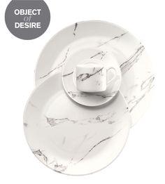 Carrera Fine Bone China Marble-look Tableware by Bodo Sperlein
