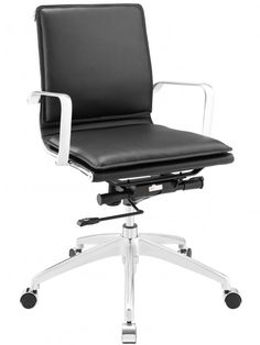 Instant Agent Low Back Office Chair | Black | Modern Furniture • Brickell Collection
