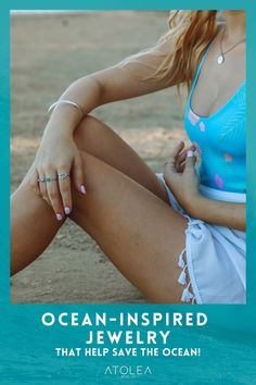 Beach vibes all. year. long with these beach ocean inspired rings, bracelets and necklaces. Head on to our website at atoleajewelry.com We offer free shipping anywhere you are! Ring Bracelet, Bracelets, Ocean Jewelry, Bikinis, Swimwear, Necklaces, Free Shipping, Website, Inspired