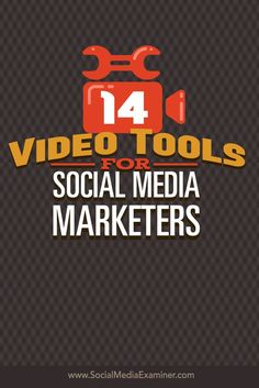 Do you want to add video to your social media marketing?  Today��s tools make it easy to record and edit videos for social media marketing and ad campaigns.  In this article I��ll share 14 tools marketers can use to create screencasts, montages and slidesho