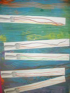 horizontale : trace fourchette/ tracés sur espace réduit