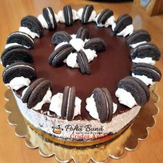 Delicious Deserts, Healthy Desserts, Dessert Recipes, Yummy Food, Oreo Cake, Oreo Cheesecake, Cheesecakes, Food And Drink, Biscuit