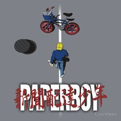 Paperboy vs Akira by Crocktees Akira Poster, Cultura Pop, One Piece Wallpaper Iphone, Movie Covers, Cartoon Crossovers, Geek Art, My Ride, Anime, Pop Culture