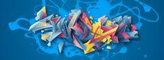 Andrezza graff by Atos Vektorgraffo, via Behance