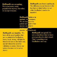 We should all strive to embody the Hufflepuff qualities more