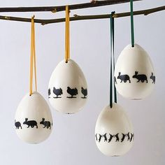 Rabbit Easter Ceramic Egg Decorations by Aiga