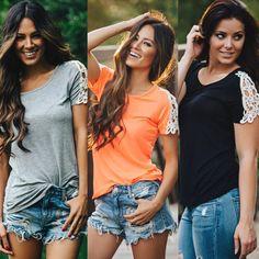 Fashion Women Summer Vest Top Short Sleeve Blouse Casual Tank Tops T Shirt Lace   eBay
