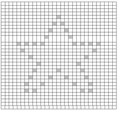 Big Star Little Star Filled in Star To follow the chart start in the bottom right corner. Grey squares are bobbles. Sc Crochet blo...