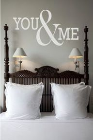 Bedroom Decor Words - Master - Personalized Wall Decor Letters, Quotes, Decals and Words   Stencil Like Letters