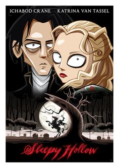 Illustrated 'Sleepy Hollow' Poster by artist, Ïve Bastrash.