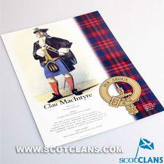 MacIntyre Clan History A4 Print
