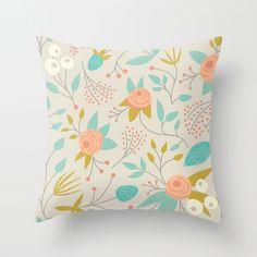 Flower Basket Throw Pillow