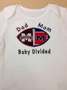 Mississippi State Polo Creeper With White Block M Logo Creative