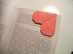 Wonderful DIY Unique Origami Heart Bookmark