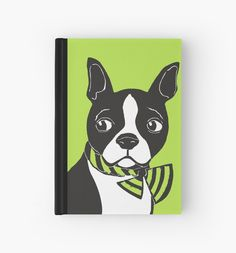 Boston Terrier Hardcover Journal by Abigail Davidson at Redbubble