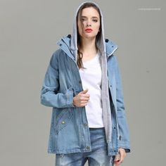 loose spring Two-piece Denim jacket Boys White Jeans, Girls Jeans, Jeans Dress, Jeans Pants, Trousers, Baby Girl Jeans, Blue Springs, Kids Pants, Jacket Brands