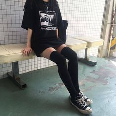 Edgy Outfits, Korean Outfits, Mode Outfits, Grunge Outfits, Cute Casual Outfits, Girl Outfits, Hipster Outfits, Black Outfits, Egirl Fashion