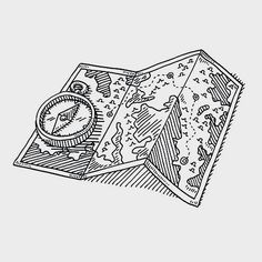 Hand-drawn vector drawing of a Finding House Concept, a Loupe shows a. The Raven, Sam Drake, Pillars Of Eternity, Blue Sargent, Wood Elf, The Adventure Zone, Six Of Crows, A Series Of Unfortunate Events, Character Aesthetic