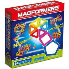 Magnetic Building Sets 180018: Magformers 62 Pcs Magnetic Construction Set New -> BUY IT NOW ONLY: $68.88 on eBay!
