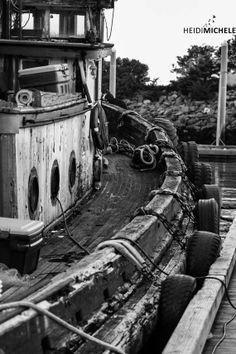 Tug Boat, Sitka, Alaska - Mixed Media Photo Print