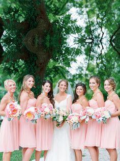 Cute Pink Bridesmaid Dresses,Elegant A-Line Bridesmaid Dress,Sweetheart Prom Dress,Knee Length Bridesmaid Dress With Ruffles Prom Dresses 2016, Cute Prom Dresses, Elegant Prom Dresses, Wedding Party Dresses, Dresses Dresses, Dress Prom, Knee Length Bridesmaid Dresses, Knee Length Dresses, Wedding