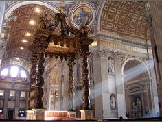 High altar, St.Peter's Basilica, Vatican City, Italy