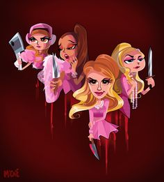 Scream Queens fanart (https://www.instagram.com/michieolive/)