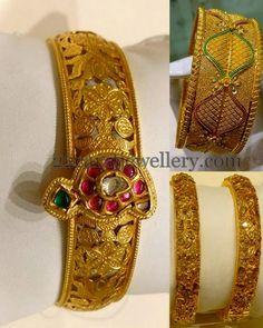 Jewellery Designs: Filigree Design Fancy Bangles