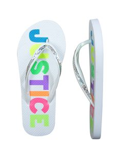 flip flops with sequins from Justice #kids