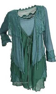 Pretty Angel Clothing PLUS SIZE Vintage Blouse In Dark Teal *10552GN