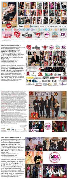 DONNA IMPRESA magazine 2016 - Magazine with 4 pages: *Il PREMIO INTERNAZIONALE…