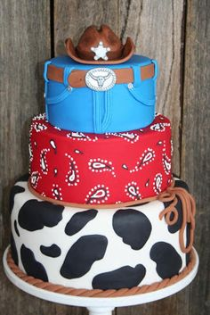 Cowboy Cake--aww this would be perfect for a Toy Story themed party too! 9406486401d