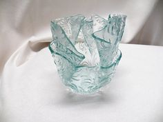 vase from non fusible glass
