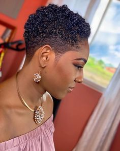 Low Cut Hairstyles, Short Black Natural Hairstyles, Natural Hair Haircuts, Natural Hair Short Cuts, African Natural Hairstyles, Tapered Natural Hair, Curly Hair Cuts, Short Hair Cuts For Women, Natural Hair Styles