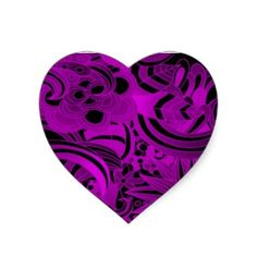 Scatter Of Purple Graphic Flowers Heart Stickers Purple Hearts, Shops, Clip Art, Glitter, Stickers, Chic, Flowers, Gifts, Design