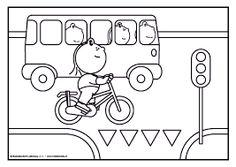 kleurplaat verkeer en vervoer - Google zoeken