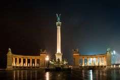 Heroes' Square #Budapest #Europe #Hungary #UNESCO Visit Budapest, Budapest Hungary, The Second City, Central Europe, Continents, Cn Tower, World War Ii, Just Go, Rome
