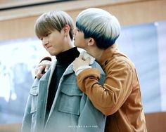 """I.M and Wonho - """"Christine, if you could be anywhere in the world right now, where would it be?"""" ....  """"OK, see where that guy in the blue jacket is?"""""""