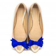 Kokardki Kobalt - klipsy do butów