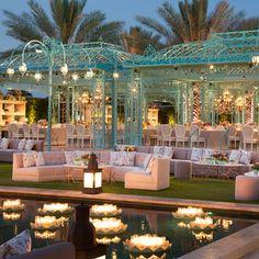 DesignLab Events | @Grace_Ormonde @Wedding_Style floating lotus candles on pool