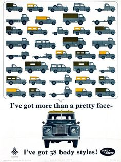 Poster by Anonymous - Land-Rover 38 body styles! 1966