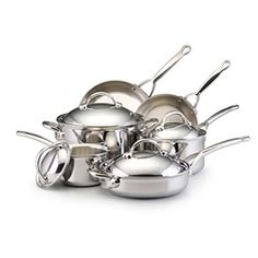 BonJour 10-piece Stainless Clad Cookware Set