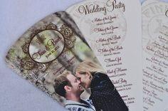 Fan Wedding Programs Custom Wine Theme Vineyard Photo von PunkyPosh, $3.00