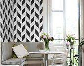 STENCIL for Walls - Woven Pattern - Allover Wall Stencil - Durable, Reusable, Modern DIY Decor