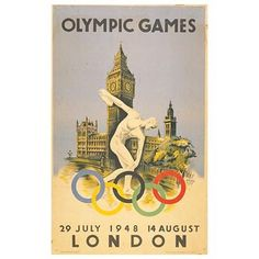 Olympic Posters - snapshots through time: London 1948