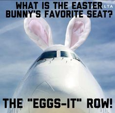 What's the Easter bunny's favorite seat?