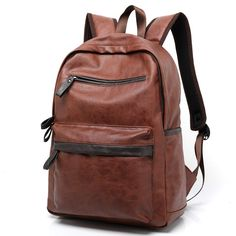 27.83$  Buy here - http://aids3.worlditems.win/all/product.php?id=32635424725 - 2017 New Arrival Leather Backpack Casual Bags & Travel Backpacks For Men Western College Style Oil Wax Leather School Backpack