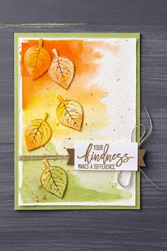 Klompen Stampers (Stampin' Up! Demonstrator Jackie Bolhuis): More Cards With Thoughtful Branches Stampin Up Karten, Stampin Up Cards, Scrapbooking, Scrapbook Cards, Fall Cards, Holiday Cards, Leaf Cards, Thanksgiving Cards, Tampons