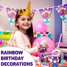 Birthday Party Hats, Unicorn Birthday Parties, Birthday Party Favors, Dinosaur Birthday, Rainbow Birthday Decorations, Unicorn Headband, Horn Headband, Unicorn Gifts, Unicorn Surprise